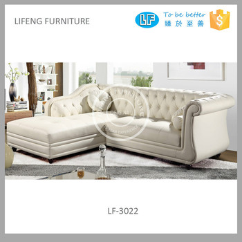 Por Modern French Style Leather Corner Sofa Lf 3022