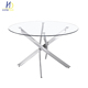 made in china hardware dining room furniture cheap round tempered glass dining table and chairs