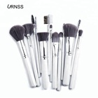Private label High End Cosmetics 13pcs Makeup Brush Set with white handle