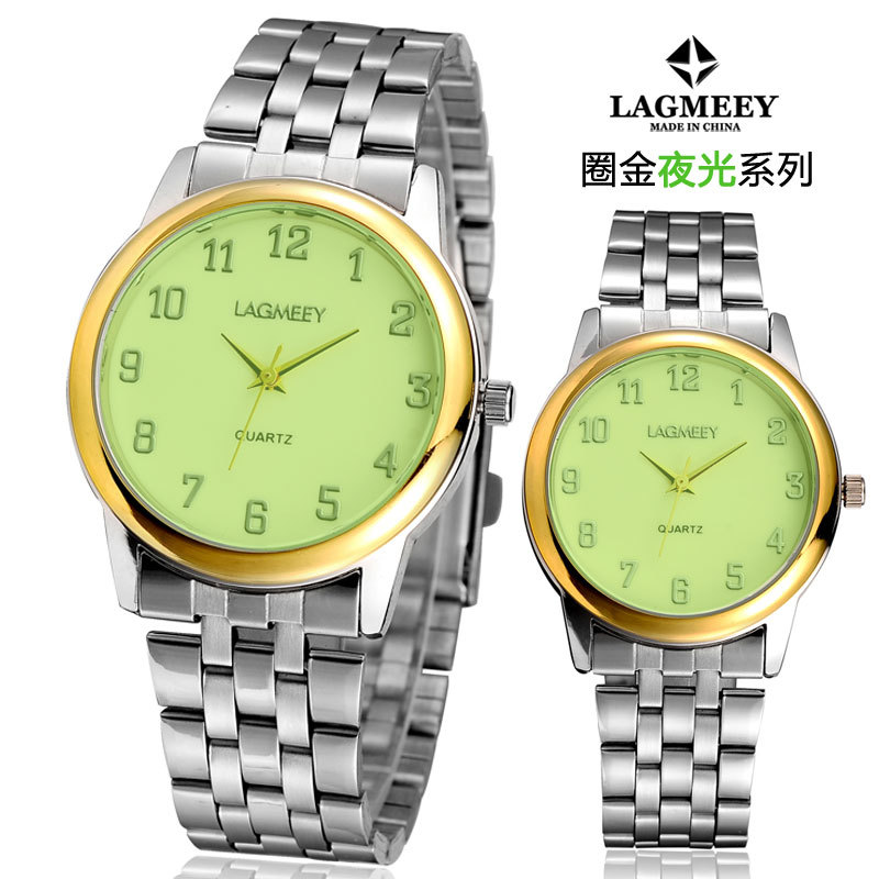 New arrive green face glow wrist watches,lovers gift vogue watch