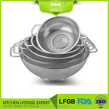 New stainless steel perforated colander set of 5