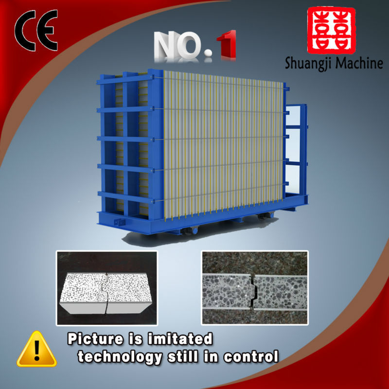 fireproof PLC control anti pressure anti quake anti bending light weight anti extrusion fibre eps sheets machine