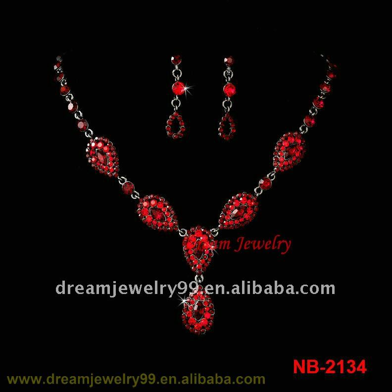 immitation ruby necklace set