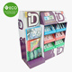 Exhibition Booth And POS Folding Cardboard Pallet Display for Chewing Gum 3D Puzzle Promotion