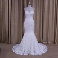 DM675 butterfly wedding dress mermiad collection sweetheart neckline lace pattern wedding dress