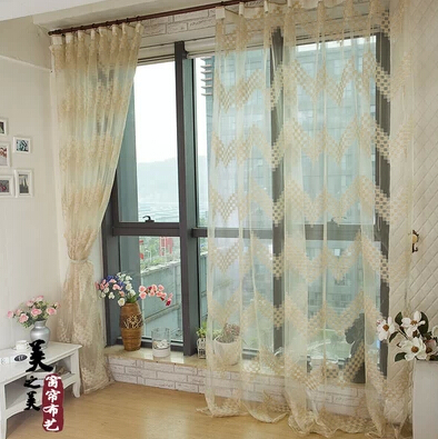 promotion jacquard window curtain yarn organza gauze tulle voile sheer cheap modern. Black Bedroom Furniture Sets. Home Design Ideas