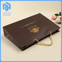 Luxury wholesales paper clothing bag, OEM paper shopping bag