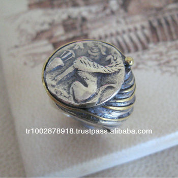 89999556ca86b Coin Ring In Silver Jewelry Ancient Greek Coin - Buy Engraved Silver  Coin,Antique Coin Ring,Fake Ancient Coins Product on Alibaba.com