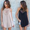 Fashion Women 2018 Summer Lace Vest Top Sleeveless Blouse Casual Hollow Out Tops Shirt