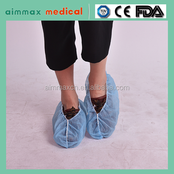 2016 new disposable PP non-woven shoe cover boot cover
