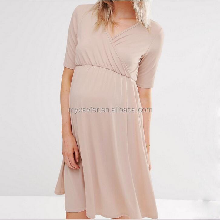 c632024f456a Nuovo vestito di gravidanza vestito fit attraverso tutte le fasi di  maternità vestiti con wrap design