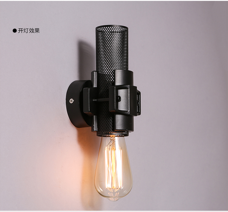 Loft American Industrial Wall Sconce 1 Lamp Wall Lights For Home Wrought Iron Edison Vintage Wall Lamp Bar Decoration Lamp Wall