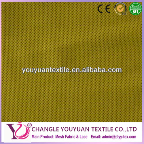 Yellow 2 way stretch 91 nylon 9 spandex fabric