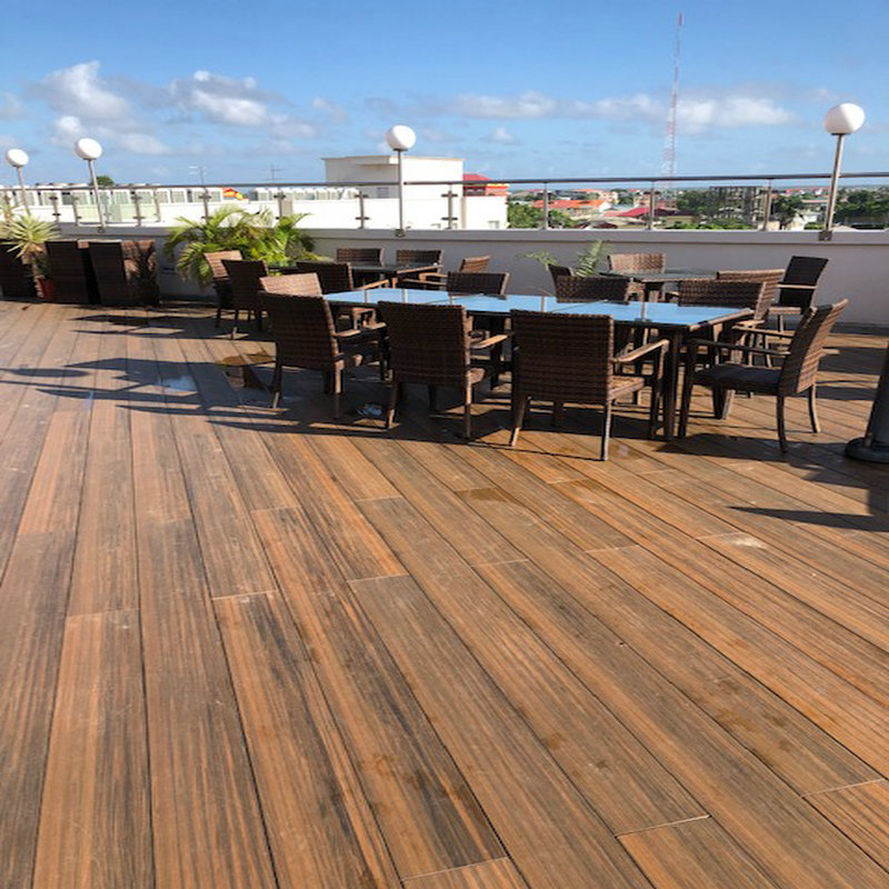Barefoot waterproof wpc outdoor decking co-extrusion floor deck board