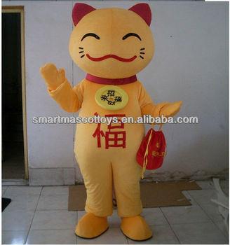 adult lucky cat mascot costume maneki neko costume & Adult Lucky Cat Mascot Costume Maneki Neko Costume - Buy Maneki Neko ...