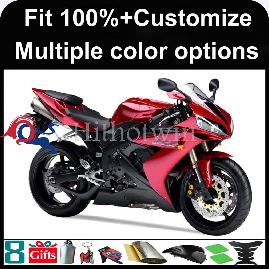 INJECTION MOLDING panels red 2004 2005 2006 YZFR1 ABS Plastic Fairing For yamaha YZF-R1 2004 2005 2006 Fairing Fit YZF R1 2004