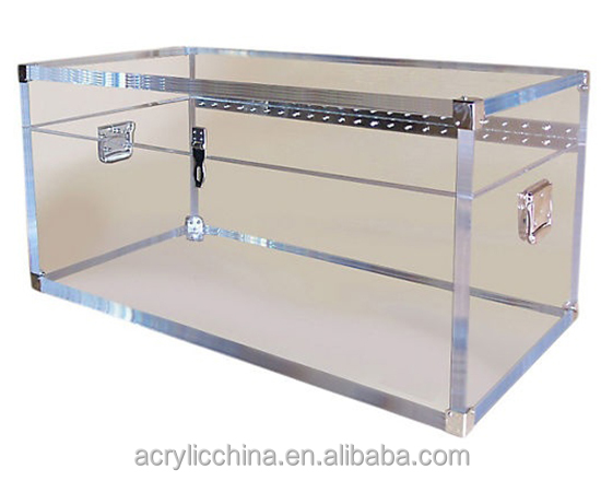 Modern furniture rental acrylic trunk,storage lucite clear acrylic trunk wholesale
