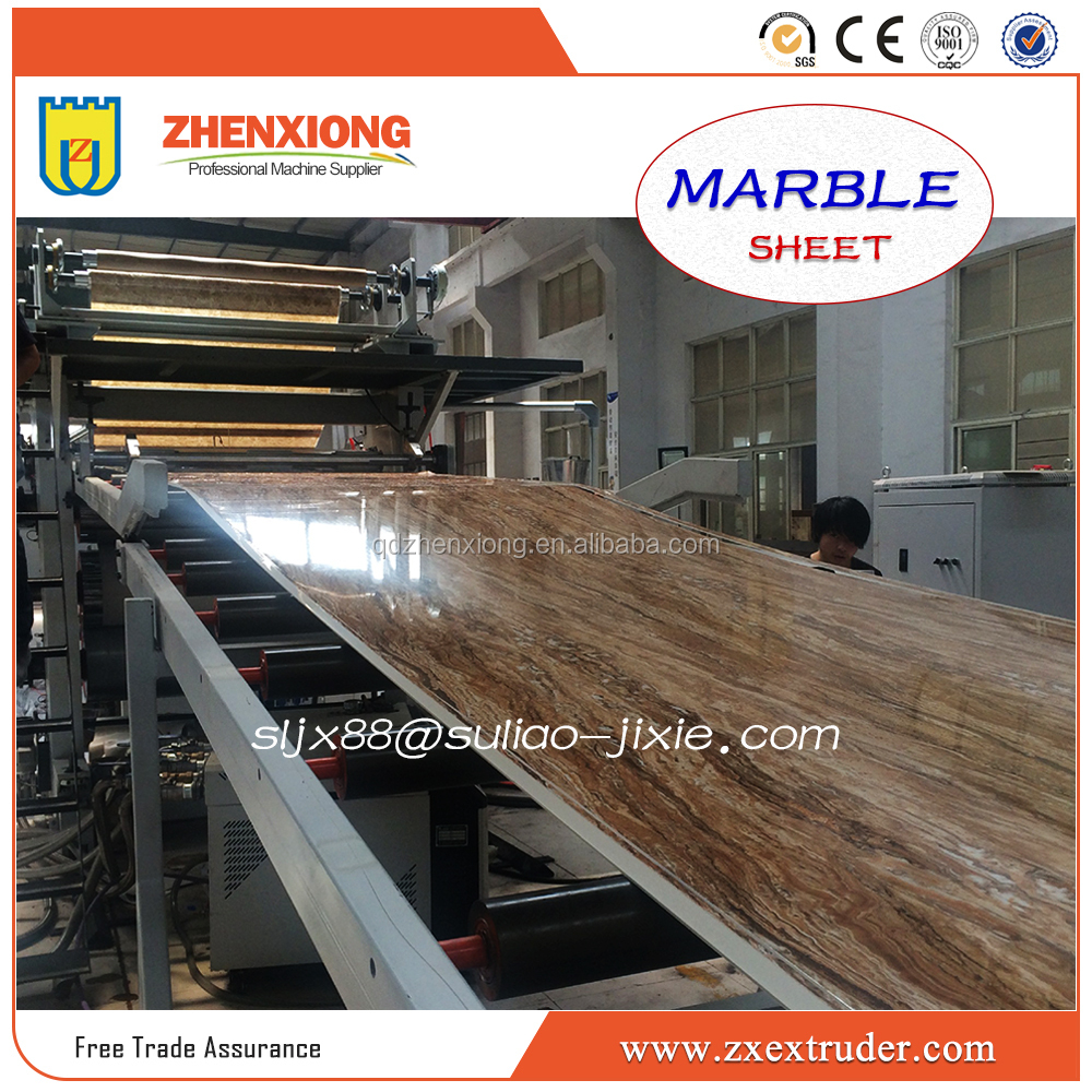 ZHENXIONG Plastic PVC Imitation Marble Plate Production <strong>Line</strong>/Artificial Marble Sheet Production <strong>Line</strong>