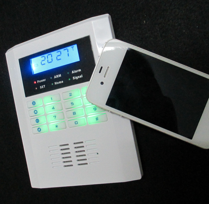 Жк-экран PSTN + GSM сигнализация главная безопасность GSM сигнализация четыре диапазона GSM сигнализации панель с русский / английский голос