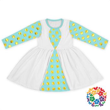 Frill Frock Design Girls Dresses Mustard Pie Fall Clothing Sets