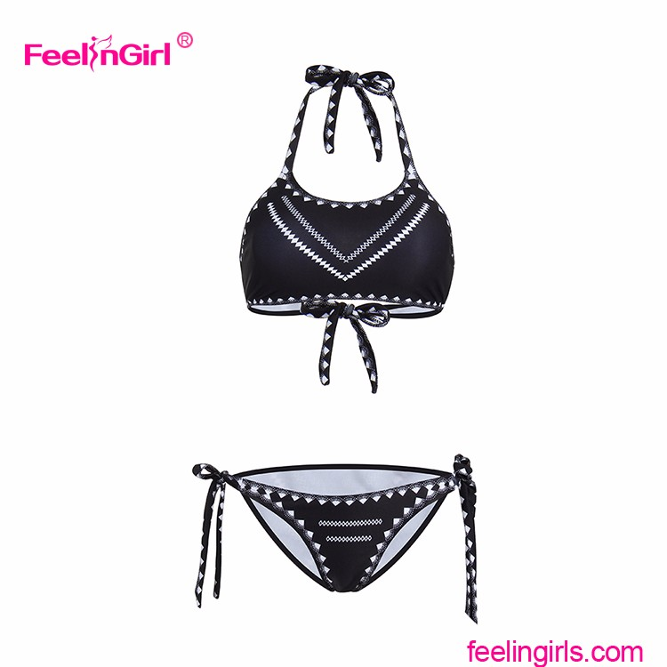2 Piece Brazilian Bikini Swimwear Solid Color Manufacturing Company Lady Swimwear