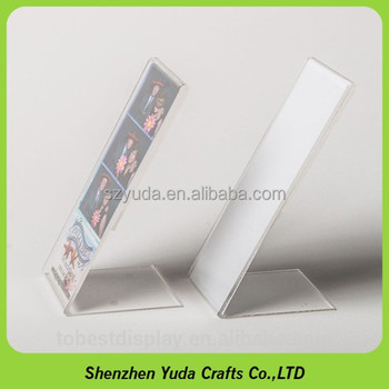 2x6 Crystal Acrylic L Shape Photo Booth Frames Picture Holder Strips ...