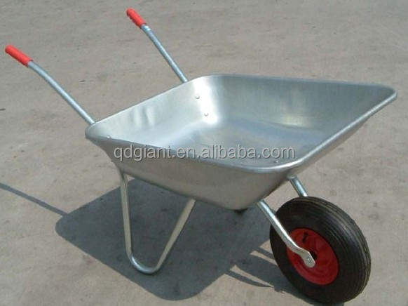 Simple farm tools galvanized wheelbarrow garden tools wb5206