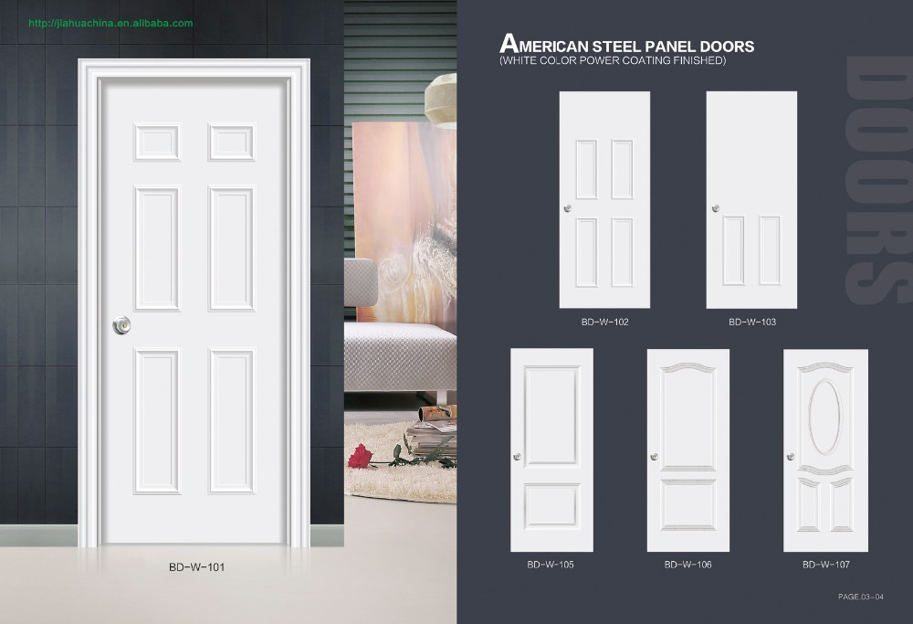 Plain White Door hot sale hollow core metal door exterior/ interior plain white
