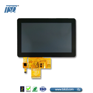 WVGA 800x480 resolution 5 inch lcd monitor with small size Capacitive touch screen