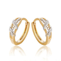 27474 Fashion designs multicolor gold plate earring