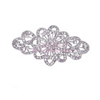 Gorgeous Bridal Flower Ribbon Brooch/Clear Crystal Wedding Broche