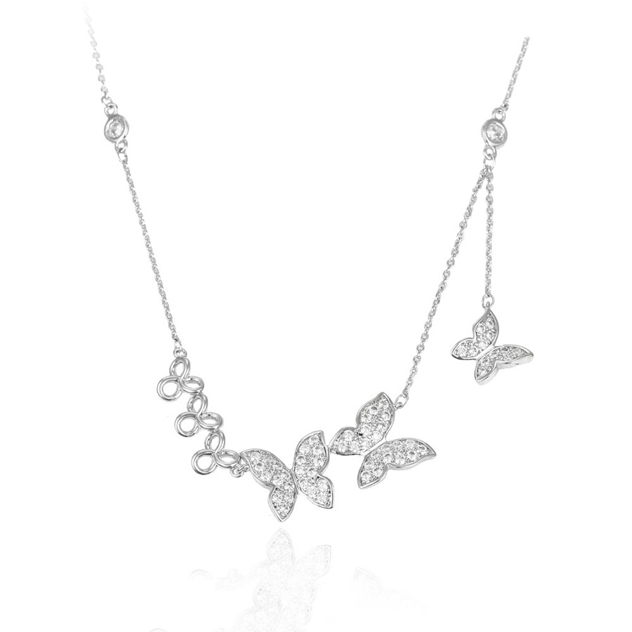 목걸이-00172 Xuping butterfly 펜 던 트 necklace layered 씬 쇄 섬세한 보석 fashion jewelry