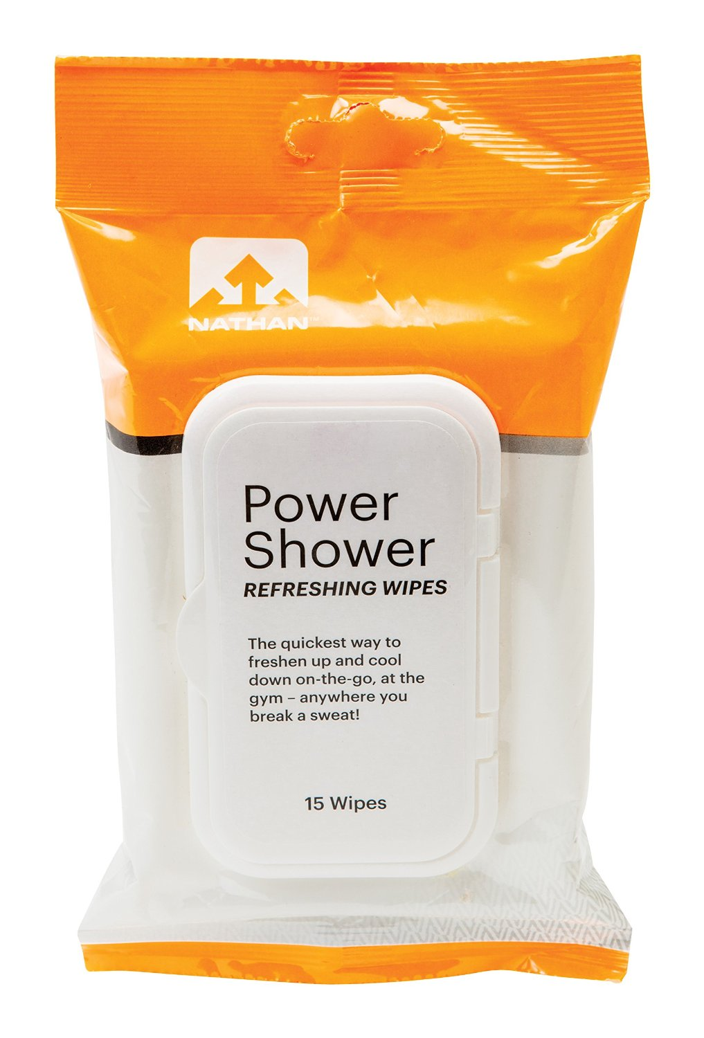 Nathan Body Wipes for Cleansing & Deodorizing after your Workout, Camping & Outdoors use, Refreshing Scent, Travel Size, 15 Count