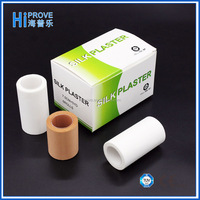 medical hypoallergenic silk tape with zig zag or plain side