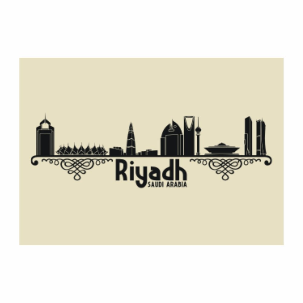 Teeburon Riyadh Saudi Arabia Pack of 4 Stickers