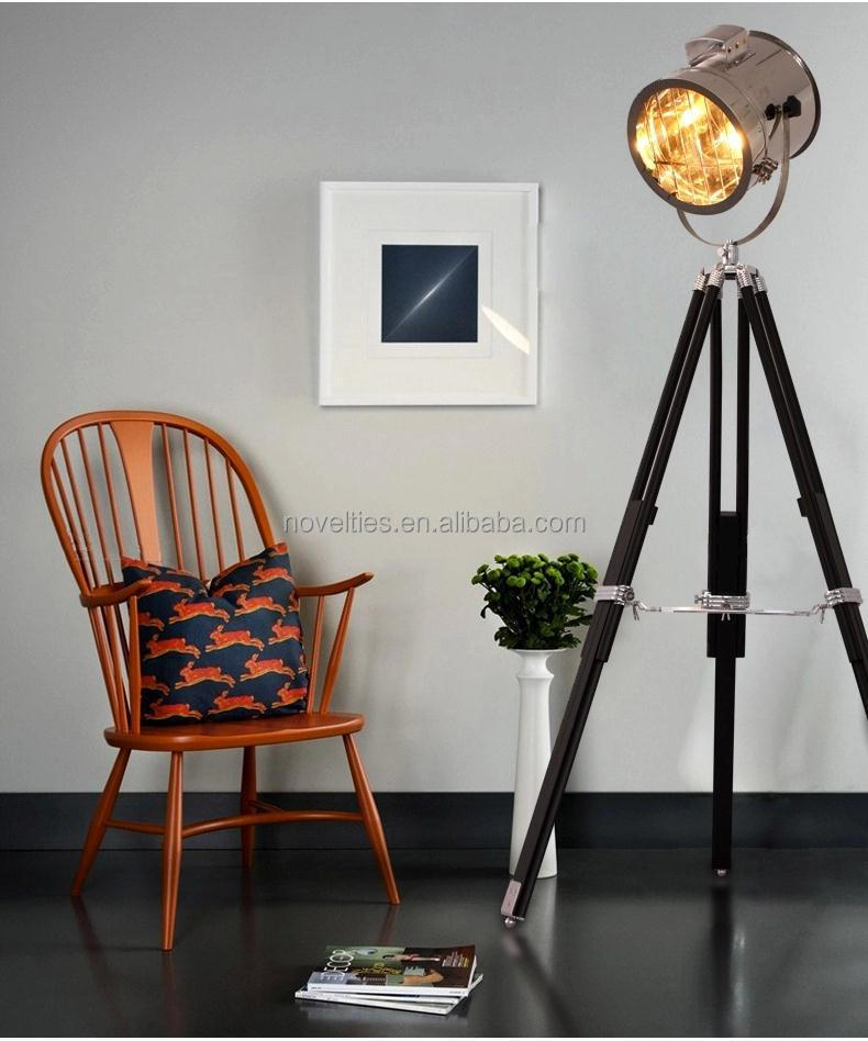 retro industrial loft tripod floor standing lamp nautical. Black Bedroom Furniture Sets. Home Design Ideas