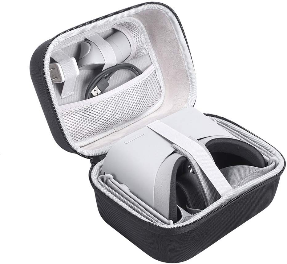 MASiKEN Oculus Go Case - Hard Travel Case Protective Carrying Storage Bag Box For Oculus Go VR Virtual Reality Headset Controller Kit (Black)