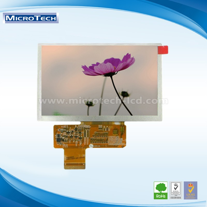 5 inch TFT LCD MODULE WITH 800*480 DOTS and RGB interface and 45 pin