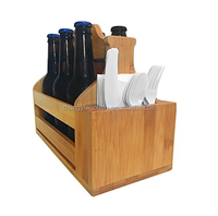 china factory BSCI kitchen Wooden six pack beer carrier set holder, Wooden Beer tote Caddy