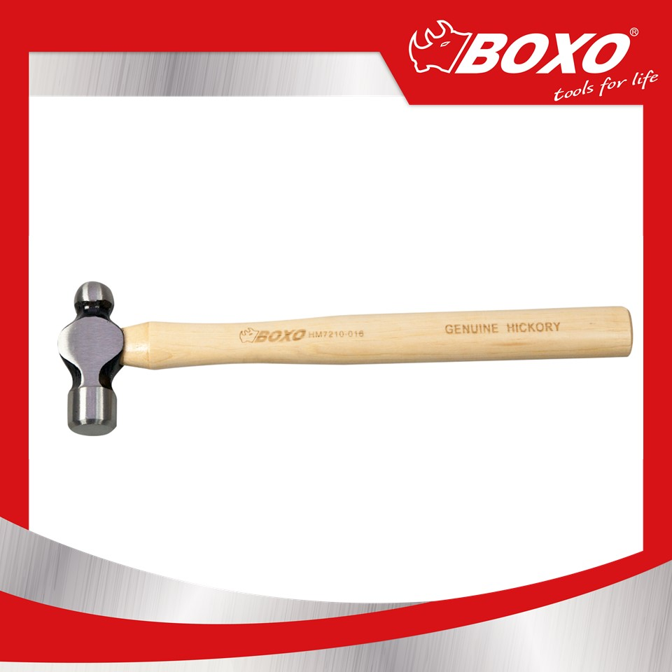 BOXO Taiwan Popular Tool Ball Pein Hammer with Wooden Handle