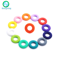 Soft Toys Chewable Jewelry Teether Silicone Teething Rings For Kids