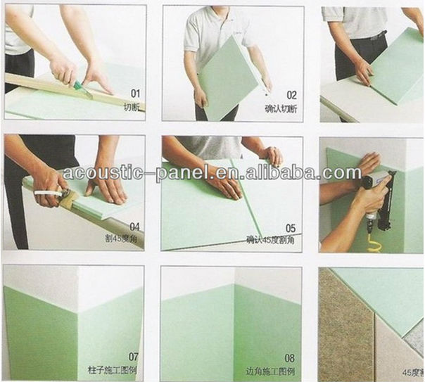 eco-friendly polyester fiber acoustic board sound absorbing panel China supplier
