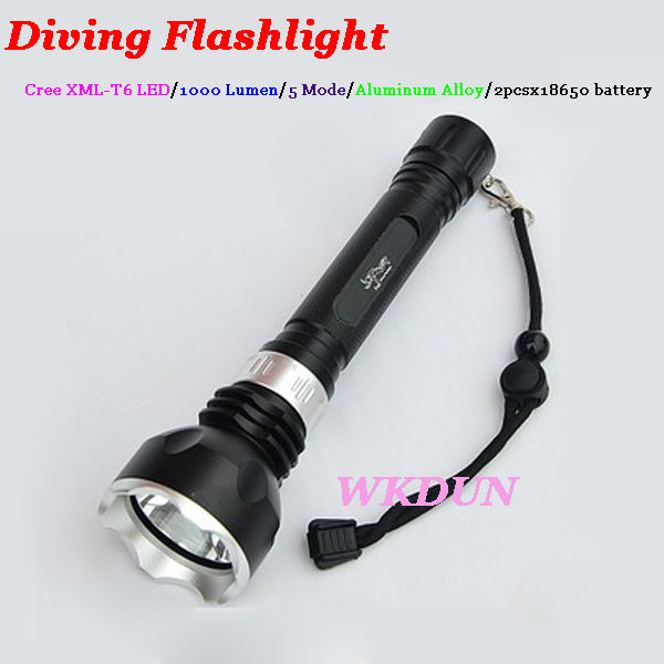 Wholesale Cree Xm-l T6 1000 Lumen Ultrafire Diving Flashlight ...