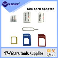 4 In 1 Micro Sim Card Nano Sim Adapter For Iphone / Smart Mobile Phone