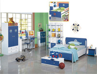 High quality best sellwe wooden kids bedroom furniture WJ277409-A1