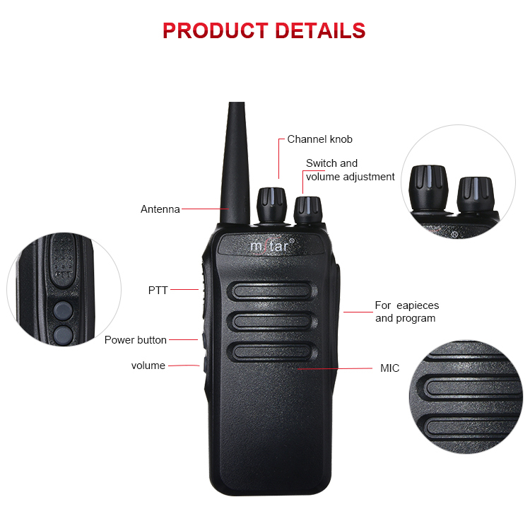 Multi-Function High Performance Mstar M-598 High Power Long Range Wireless Walkie Talkie For Medium-Sized Industrial Enterprise