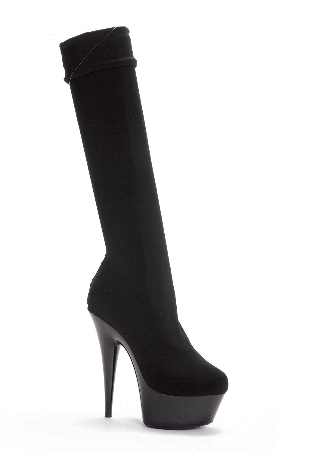 "Ellie Shoes Women's 609-LYCRA 6"" Pointed Stilitto Lycra Knee High Boot"