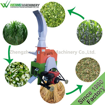 Customized professional china supplier 1.5t/h straw grass cutting machine