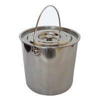 Stainless steel bucket 5 gallon European bucket 5l10l 5litre 20l with lid