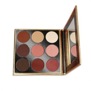 New cardboard pan case design magnetic eyeshadow palette for makeup